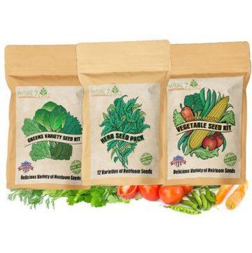 3 combo heirloom green seed packs