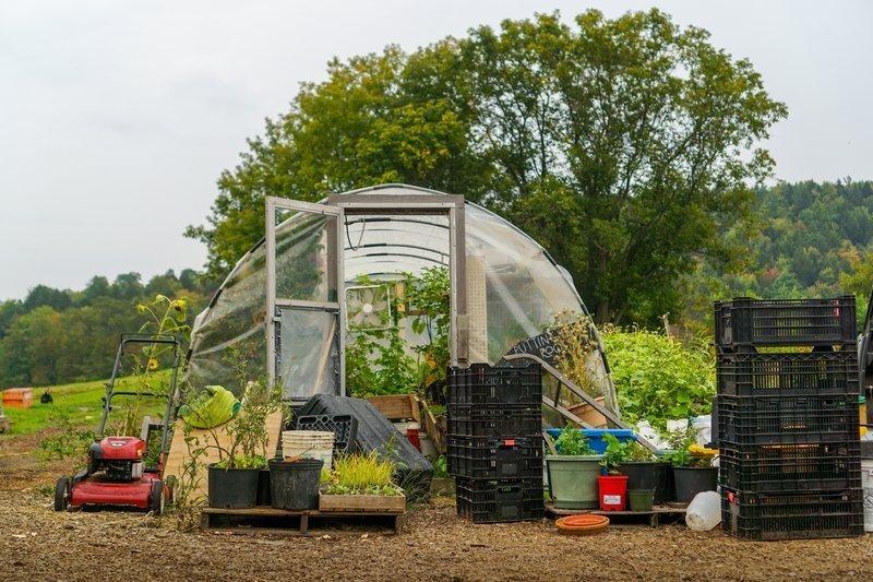 Hoop House Garden