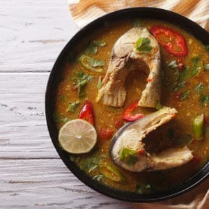 MOROCCAN FISH IN SPICY TOMATO SAUCE